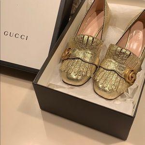 Gucci Midheel Pump - Gold